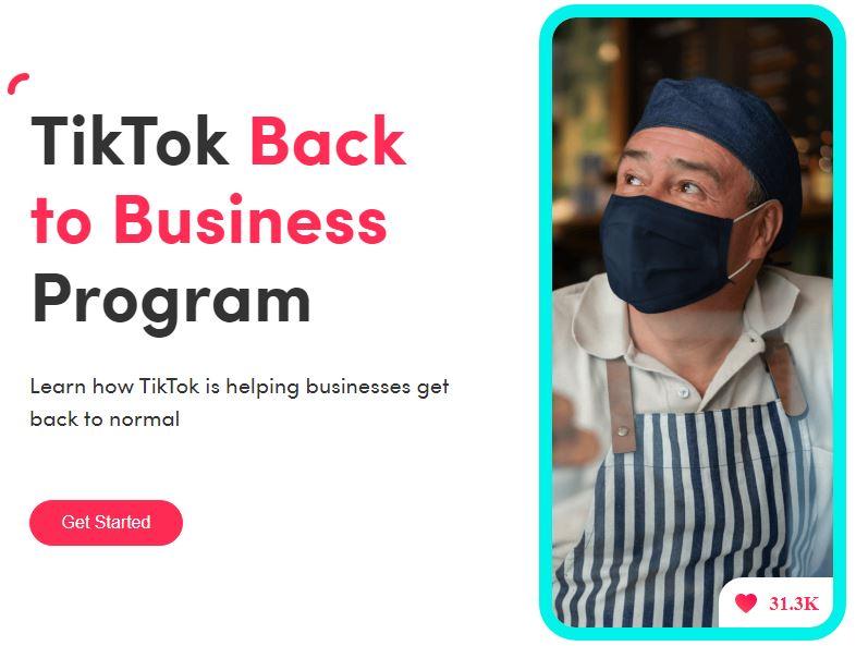 TikTok Back To Business Program